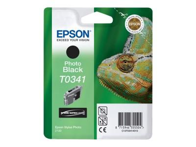 EPSON T0341 Tinte schwarz Standardkapazität 17ml 628 Seiten 1-pack blister ohne Alarm