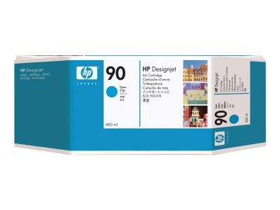 HP 90 Original Tinte cyan Standardkapazität 400ml 1er-Pack