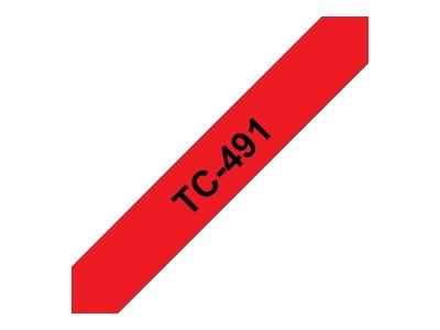 BROTHER P-Touch TC-491 schwarz auf rot 9mm