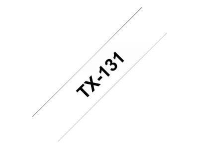 BROTHER P-Touch TX-131 schwarz auf clear 12mm