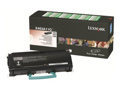 LEXMARK X463, X464, X466 Toner schwarz Standardkapazität 3.500 Seiten 1er-Pack return program