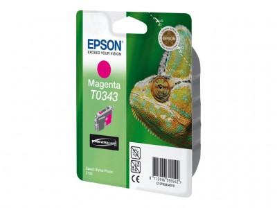 EPSON T0343 Tinte magenta Standardkapazität 17ml 440 Seiten 1-pack blister ohne Alarm