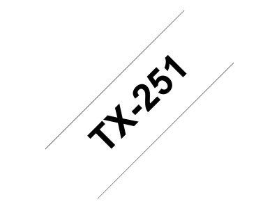 BROTHER P-Touch TX-251 schwarz auf weiss 24mm