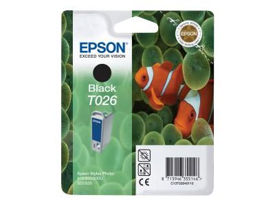 EPSON T026 Tinte schwarz Standardkapazität 16ml 540 Seiten 1-pack blister ohne Alarm