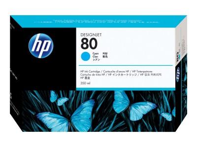 HP 80 Original Tinte cyan Standardkapazität 350ml 1er-Pack