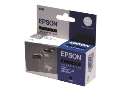 EPSON T040 Tinte schwarz Standardkapazität 17ml 420 Seiten 1-pack blister ohne Alarm