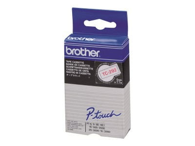 BROTHER P-Touch TC-292 rot auf weiss 9mm