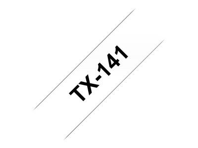 BROTHER P-Touch TX-141 schwarz auf clear 18mm