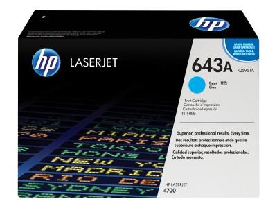 HP 643A Colour LaserJet Original Toner cyan Standardkapazität 10.000 Seiten 1er-Pack