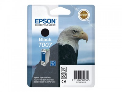 EPSON T007 Tinte schwarz Standardkapazität 16ml 540 Seiten 1-pack blister ohne Alarm