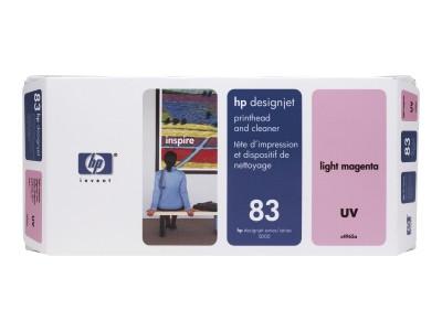 HP 83 Original Druckkopf und Druckkopfreiniger hell magenta