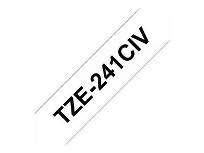 BROTHER P-Touch TZE-241CIV weiss/schwarz