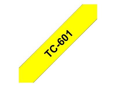 BROTHER P-Touch TC-601 schwarz auf gelb 12mm
