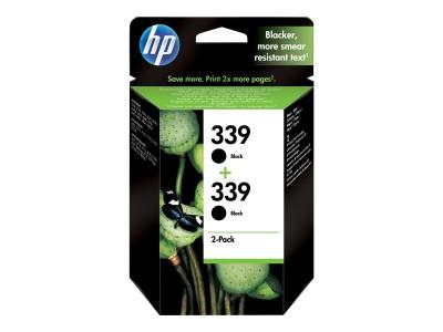 HP 339 Original Tinte schwarz hohe Kapazität 2 x 21ml 2 x 860 Seiten 2er-Pack