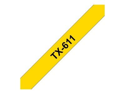 BROTHER P-Touch TX-611 schwarz auf gelb 6mm