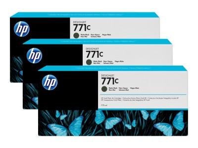 HP 771C Original Tinte matt schwarz Standardkapazität 3 x 775ml 3er-Pack