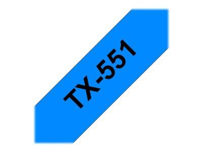 BROTHER P-Touch TX-551 schwarz auf blau 24mm
