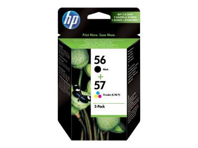 HP 56/57 Original Tinte schwarz und dreifarbig Standardkapazität Schwarz: 19ml, Farbe: 17ml Schwarz: