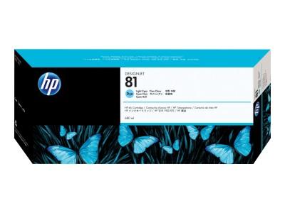 HP 81 Original Farbpatrone hell cyan Standardkapazität 680ml 1er-Pack