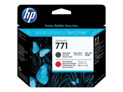 HP 771 Original Druckkopf matt schwarz und chromatisch rot Standardkapazität 1er-Pack