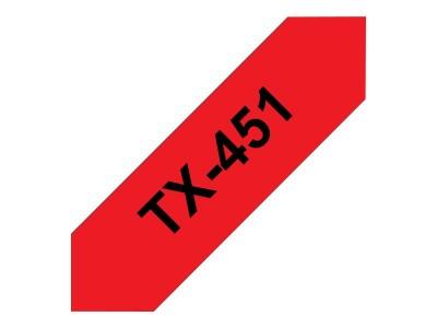 BROTHER P-Touch TX-451 schwarz auf rot 24mm