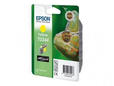EPSON T0344 Tinte gelb Standardkapazität 17ml 440 Seiten 2-pack blister ohne Alarm