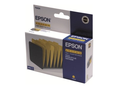 EPSON T0424 Tinte gelb Standardkapazität 16ml 420 Seiten 1-pack blister ohne Alarm
