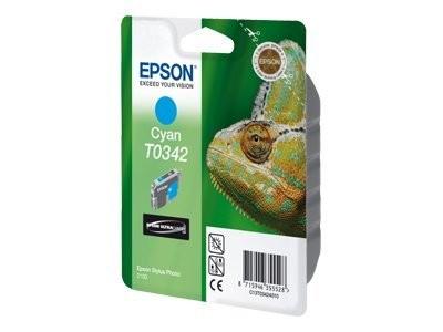 EPSON T0342 Tinte cyan Standardkapazität 17ml 440 Seiten 1-pack blister ohne Alarm