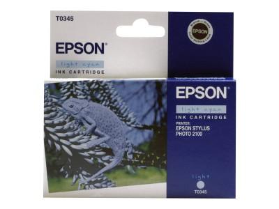 EPSON T0345 Tinte hell cyan Standardkapazität 17ml 440 Seiten 1-pack blister ohne Alarm