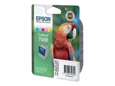 EPSON T008 Tinte fünf Farben Standardkapazität 46ml 220 Seiten 1-pack blister ohne Alarm