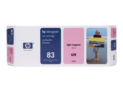HP 83 Original UV-bestaendige Tinte hell magenta Standardkapazität 680ml 1er-Pack