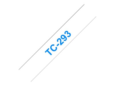 BROTHER P-Touch TC-293 blau auf weiss 9mm