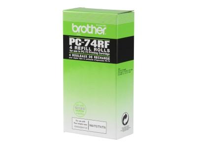 BROTHER PC-74RF Ersatzfarbband schwarz 144 Seiten 4er-Pack