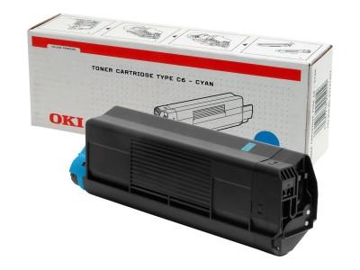 OKI C5100, C5200, C5300, C5400 Toner cyan Standardkapazität 5.000 Seiten 1er-Pack
